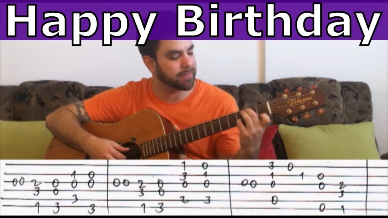 Fingerstyle Tutorial Happy Birthday Extreme Version Guitar