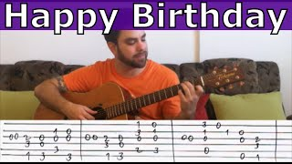 "Fingerstyle Tutorial: Happy Birthday (""Extreme"" Version) - Guitar Lesson w/ TAB"