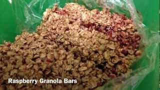 3 Ingredient Rasberry Granola Bars - The Cheap Chef