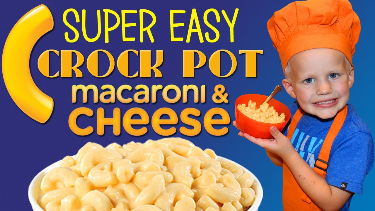 Kid Size Cooking: Easy Crock Pot Mac and Cheese - YouTube