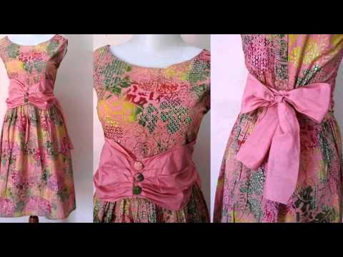 44 Model Baju Batik Kombinasi Brokat Modern Untuk Pesta ...  Model Dress Batik Pesta