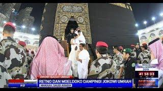 Jokowi dan Ibu Iriana Masuk Ka'bah