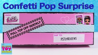 LOL Surprise Doll Confetti Pop Series 3 Color Change Toy Review | PSToyReviews