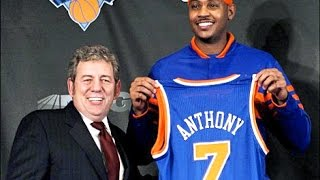 CARMELO ANTHONY'S NEW YORK KNICKS DEBUT