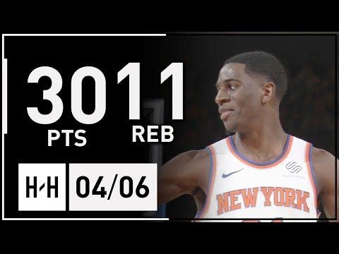 Damyean Dotson Full Highlights Heat vs Knicks (2018.04.06) - 30 Pts, 11 Reb!