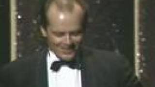 Jack nicholson wins supporting actor: 1984 oscars