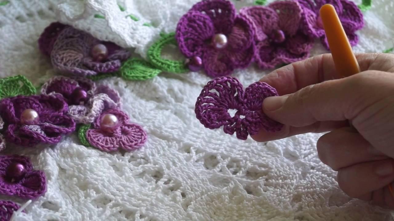 Цветы крючком схема фиалки фото 135