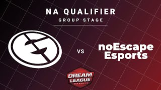 Evil Geniuses vs noEscape Game 1 - DreamLeague S13 NA Qualifiers: Group Stage