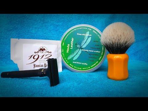 Бритье. Shavemac 2-band, Lisa Natural Herbal Creations Soap, станок WEISHI Adjustable, Wickham Balm.