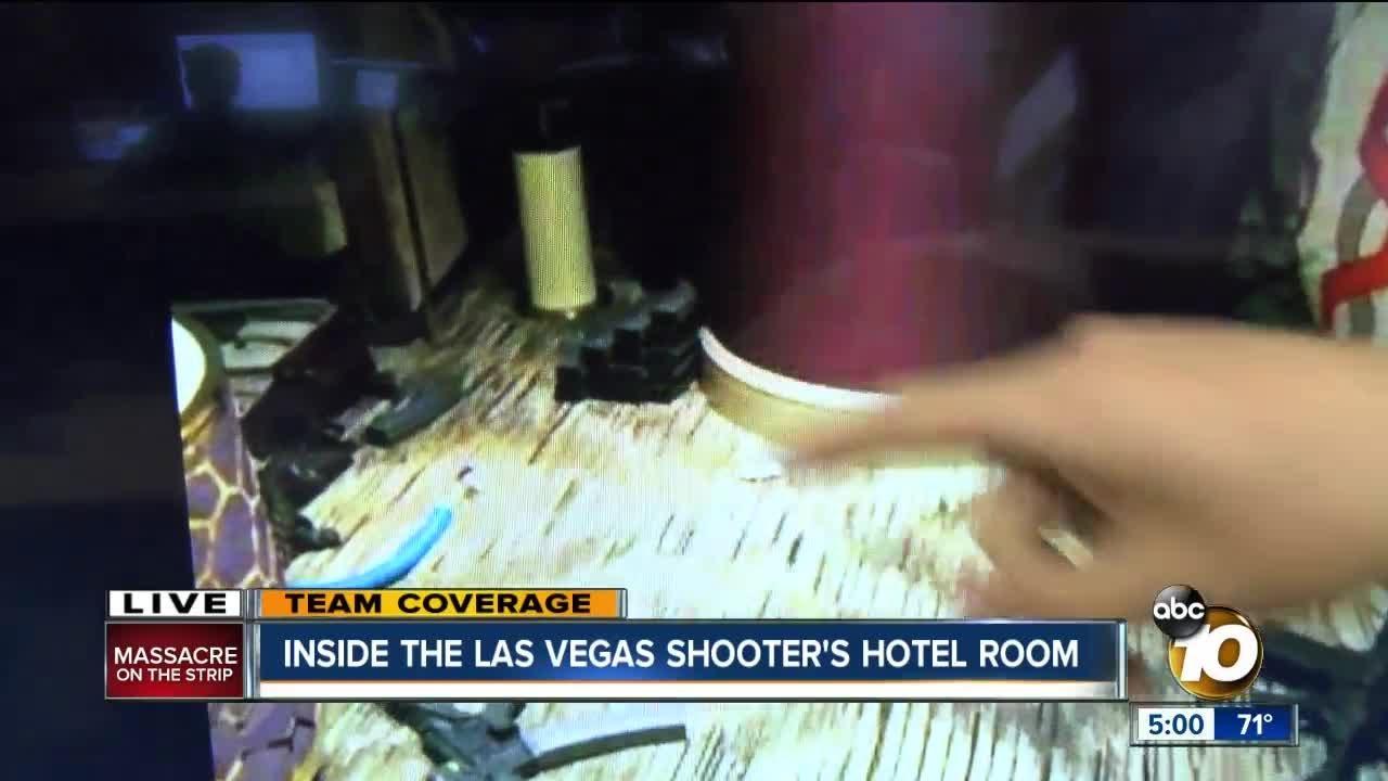 A Look Inside Gunman S Las Vegas Room Youtube
