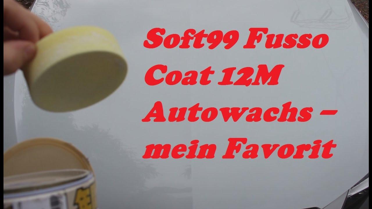 soft99 fusso coat 12m autowachs youtube. Black Bedroom Furniture Sets. Home Design Ideas