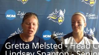 Augustana softball press conference following loss to Southeastern Oklahoma State