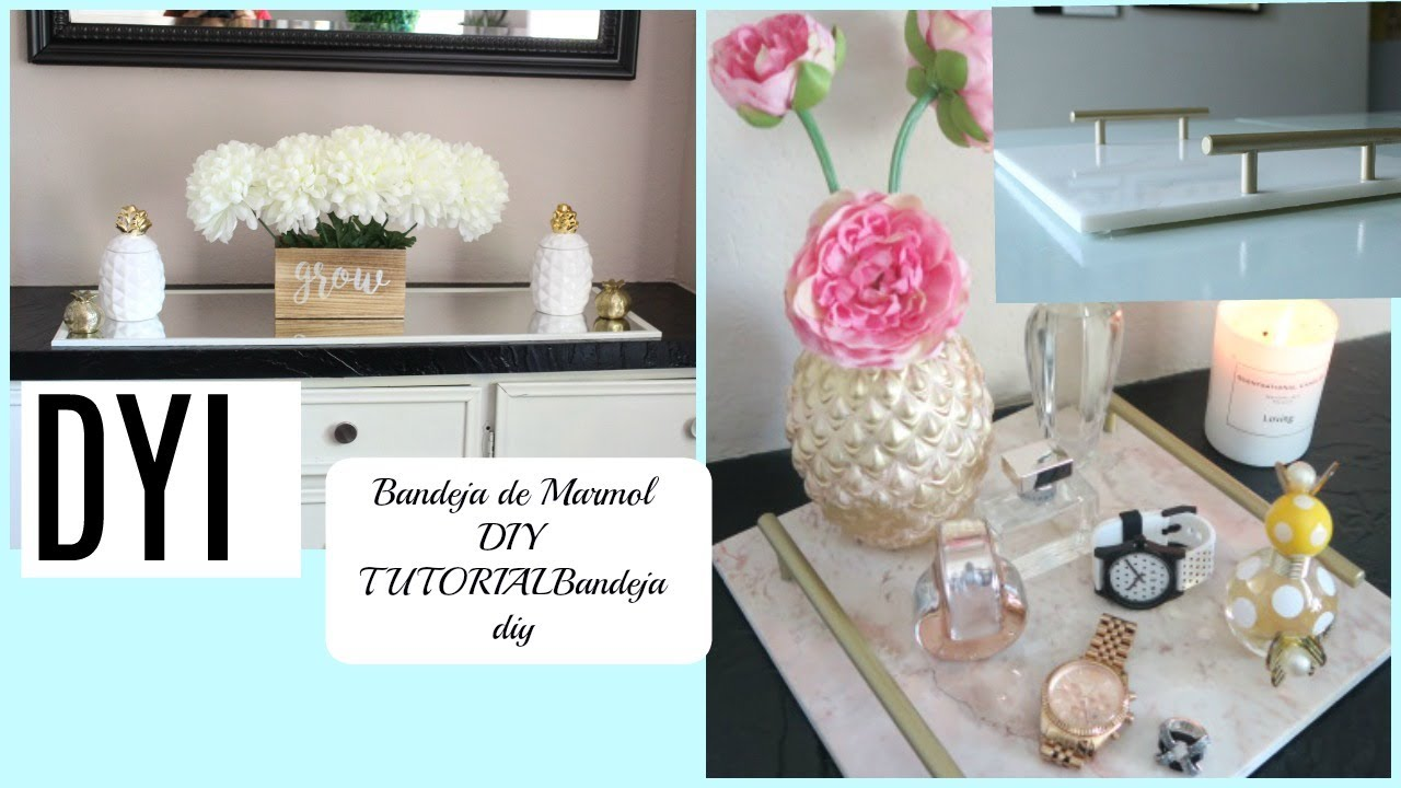 Diy como hacer charola de m rmol ideas baratas para for Ideas baratas para decorar