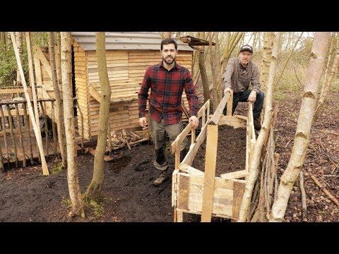 Pallet Wood Cabin in the Woods: Raised Vegetable Bed for Spring Garden at The Off Grid Cabin