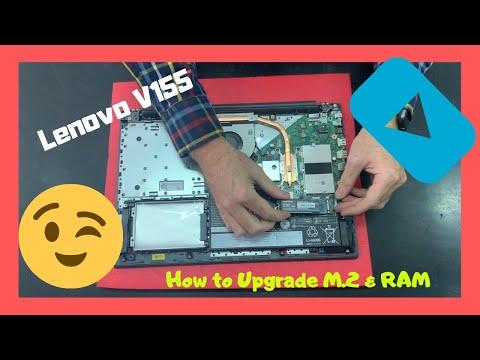 Lenovo V155 How To Upgrade M.2 Pcie Nvme SSD RAM Disassembly