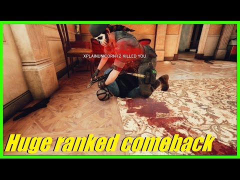 Rainbow 6 siege - Crazy Ranked comeback down 0-3! | Biggest tryhards EVER! XD