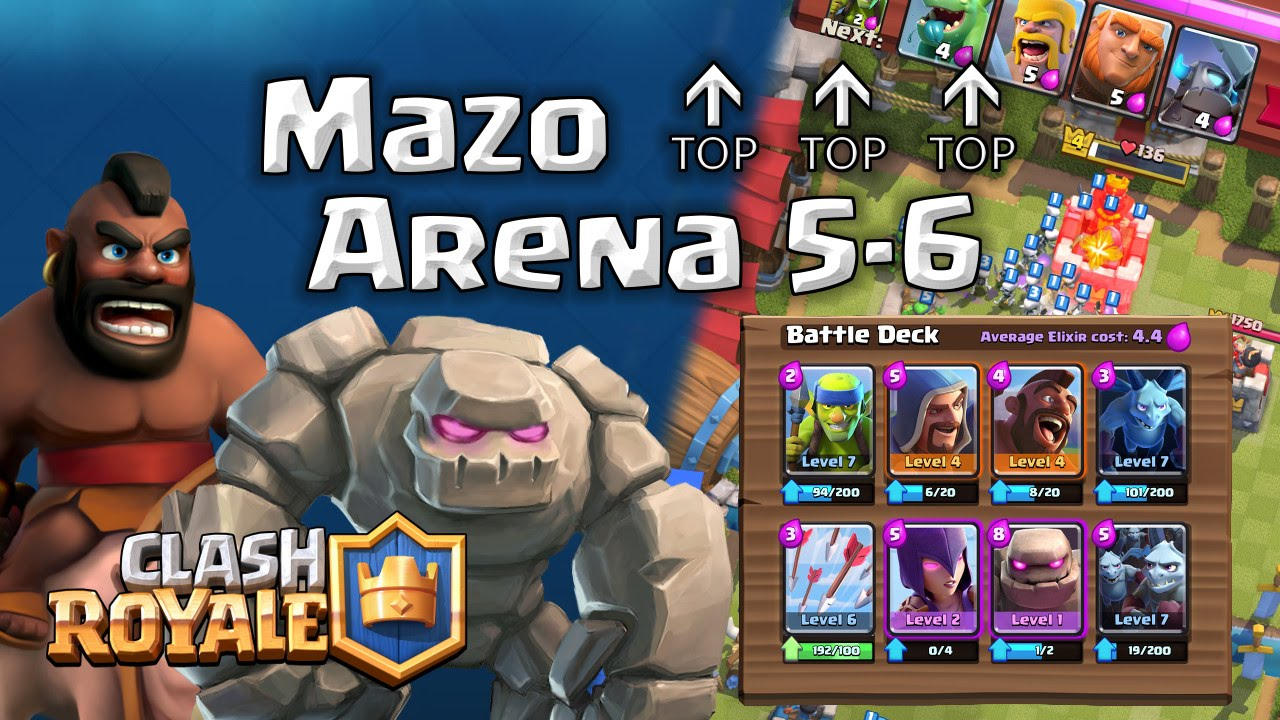 Epic Mazo Bruja Golem Mago Montapuerco Arena 6 | Clash Royale ...