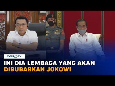 Jokowi Akan Bubarkan Lembaga Negara