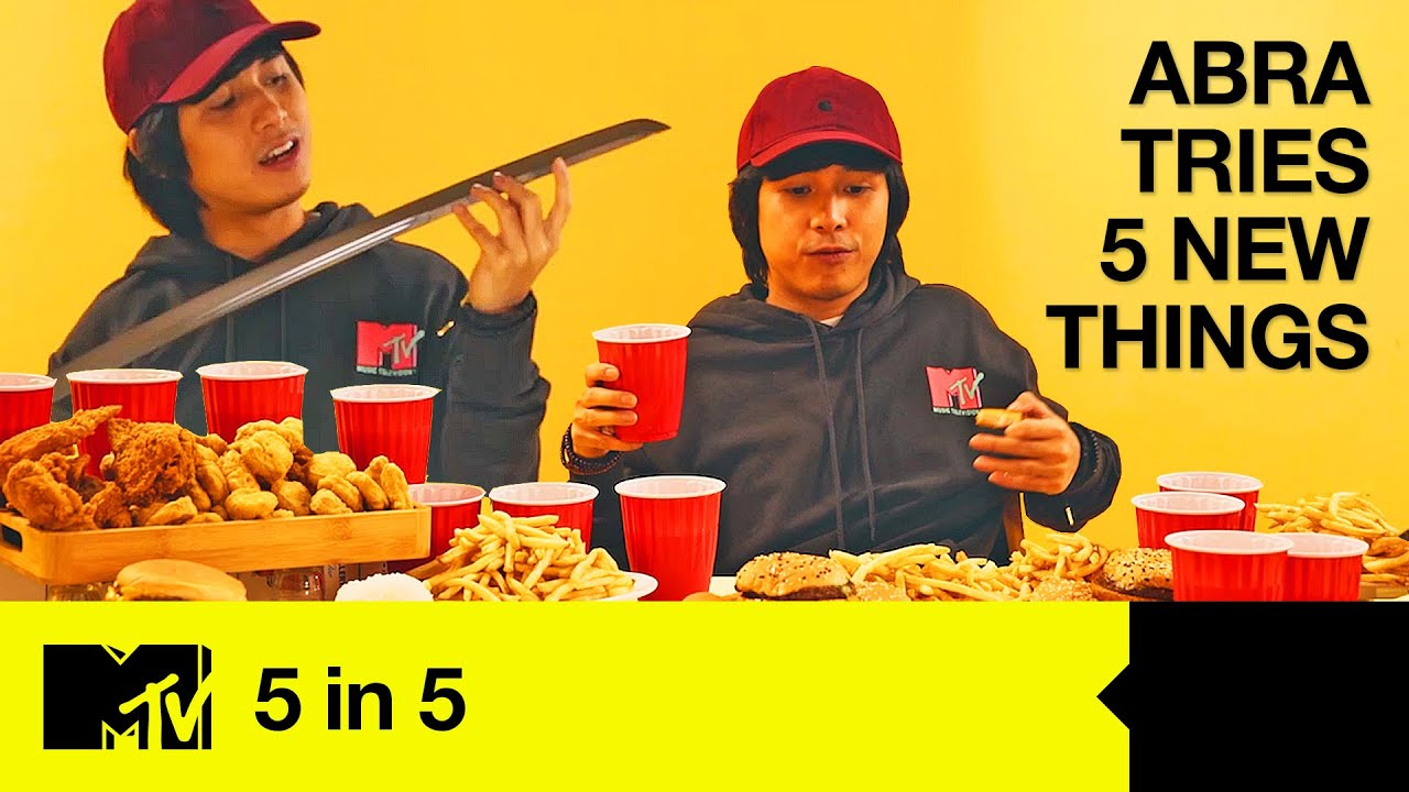 Rapper Abra Tries 5 New Things: IRL Fruit Ninja, Beer Pong & Insta Takeovers [ENG/PH SUBS] | 5 In 5