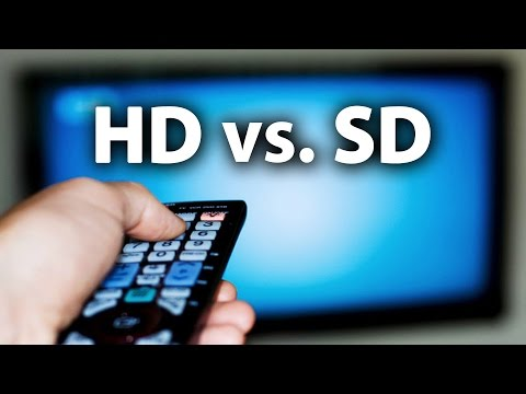 HD vs. SD -- High / Standard Definition Comparison Video & Explanation