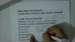 açıköğretim ingilizce(çıkmış sorular çözümü 2013 1-12)