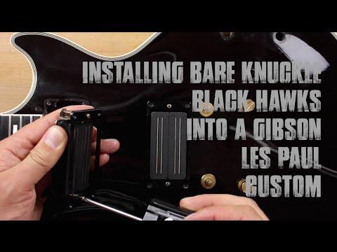 Gibson Les Paul Pickup Upgrade - Bare Knuckle Black Hawks