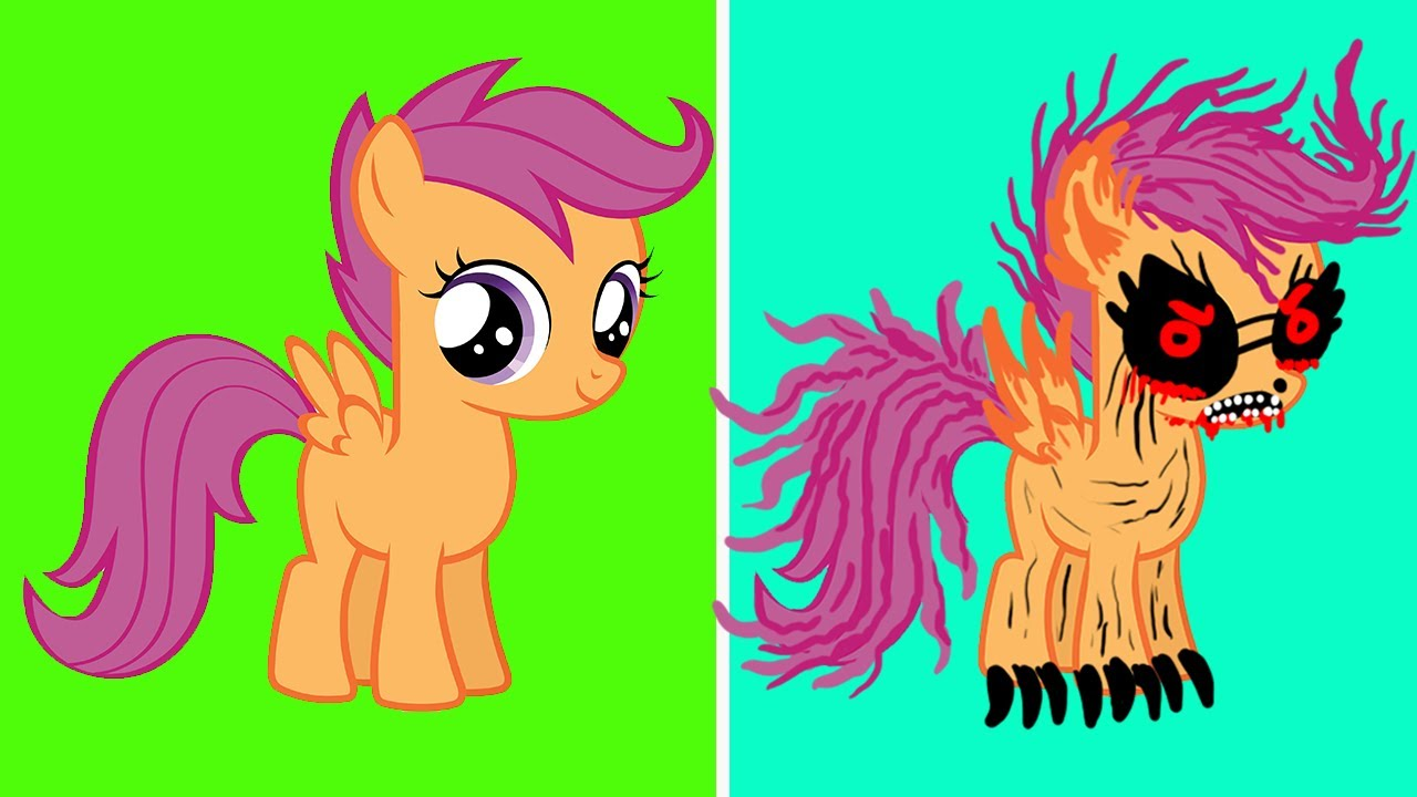 My Little Pony Scootaloo Characters Horror Version Youtube Scootaloo meets rainbow dash's parents (parental glideance) | mlp: youtube