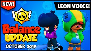Brawl Stars: Balance Changes + LEON VOICE October Brawl Update