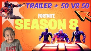 NEW FORTNITE SEASON 8 TRAILER and 50 vs. 50 | Get shot out of a CANNON | Fortnite for Kids SAFE!