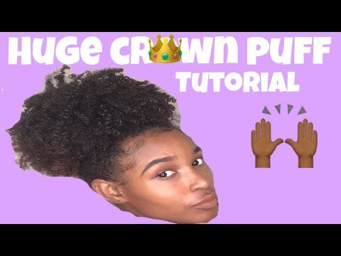 "HUGE PUFF ""CROWN PUFF"" TUTORIAL + Edges 