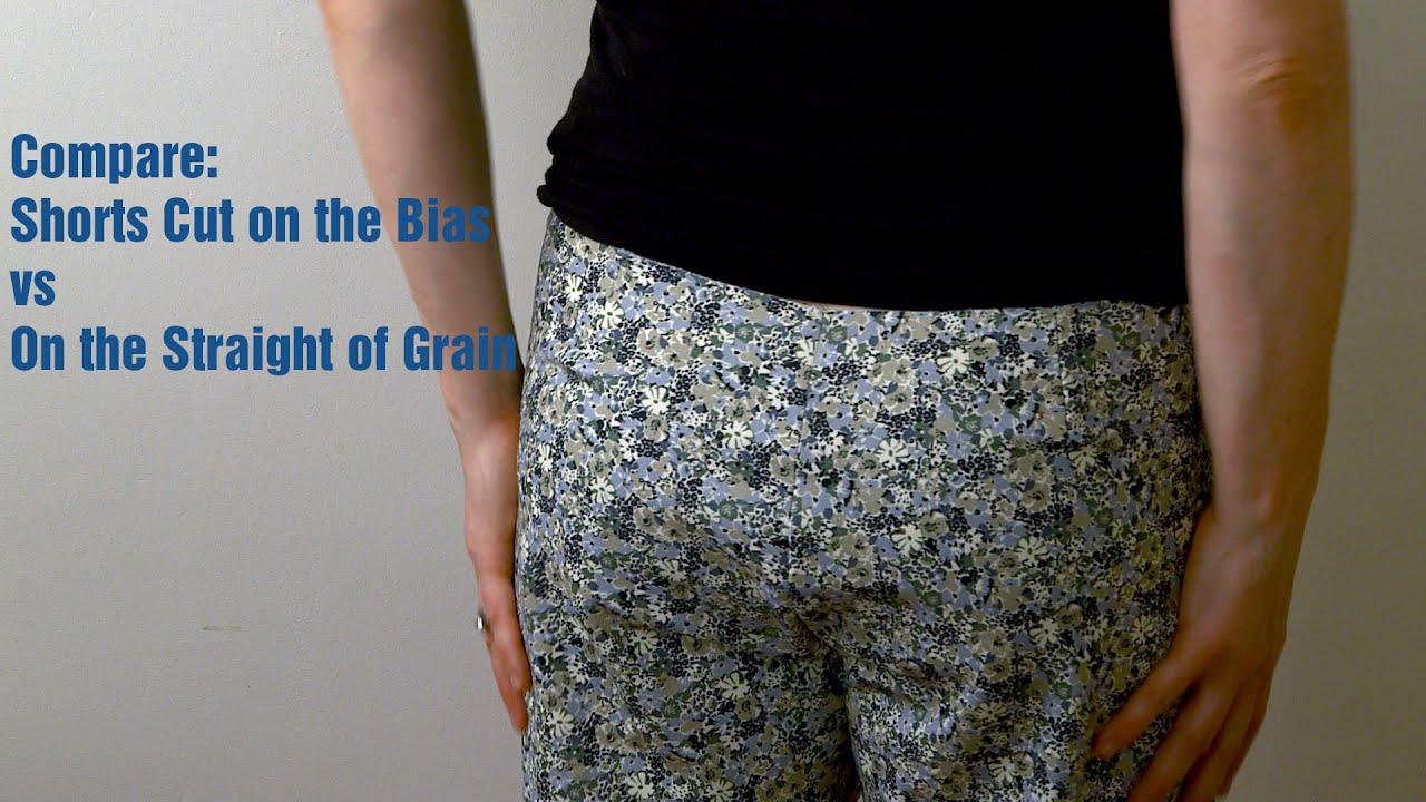 J Stern Designs L Compare Short Cut On The Bias Vs The Straight Of Grain Youtube