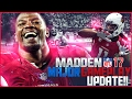 MADDEN NFL 17 MAJOR GAMEPLAY UPDATE! Post Patch Gameplay & Analysis