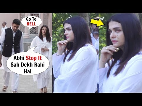 Aishwarya Rai CRYING As Abhishek Bachchan Left Without Her After FIGHT  - Watch Video