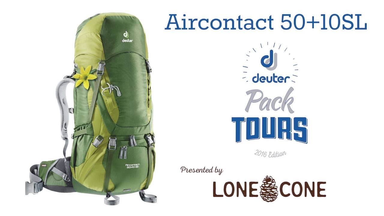 e206ac8d1a058 Pack Tour  Deuter Aircontact 50+10SL - YouTube