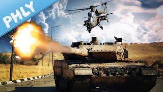 MODERN TANKS - Leopard 2 Escorting Convoys (War Thunder Tanks Gameplay)