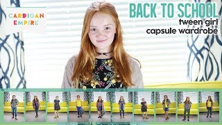Tween Girl Back To School Outfit Capsule: 10 Items - 11 Outfits