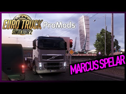 Marcus spelar Euro Truck Simulator 2: ProMods Scandinavia Mod