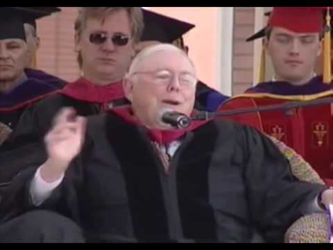 Charlie Munger Commencement Address - USC