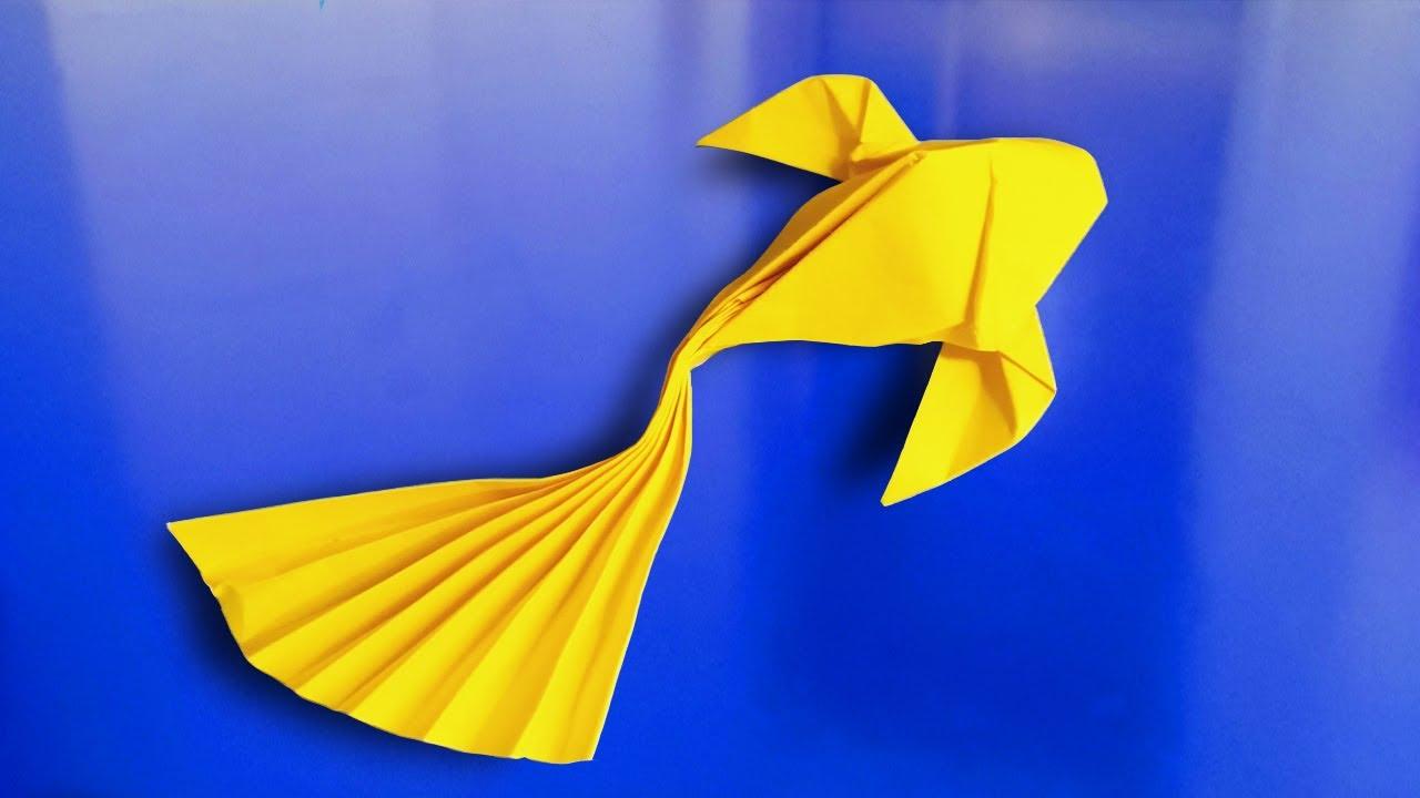 Gấp Cá Vàng | Gấp Con Cá Vàng Dễ Thương Quá | Paper Goldfish