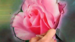 Урок аэрографии. Цветок (роза).