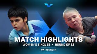 Kamath Archana Girish vs Yana Noskova | WTT Contender Budapest 2021 (R32)