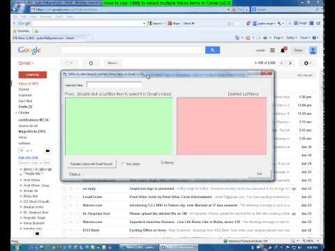 Utility To Select Multiple Inbox Items In Gmail Developed By Jasbir