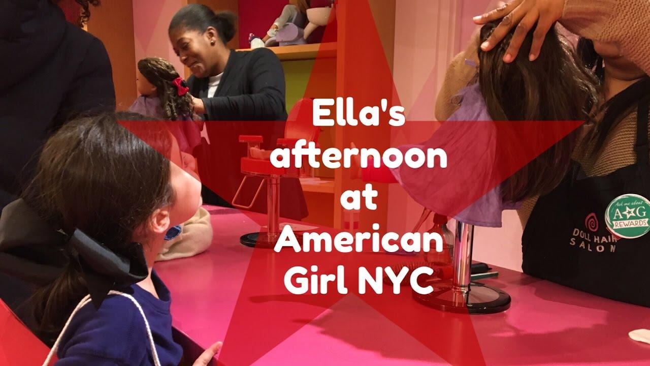 Ella visits American Girl in NYC