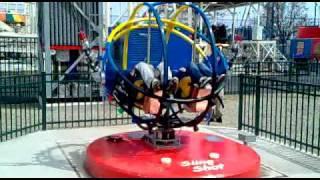 Scream Zone Sling Shot Ride at Coney Island