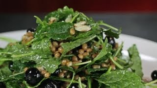 Kale, Wheatberry and Blueberry Salad
