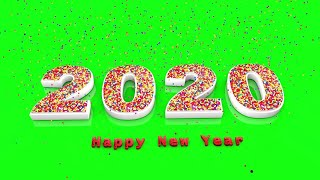 Happy New Year 2020 green screen 3D Special Green screen effect