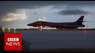 North Korea  US bombers stage show of force   BBC News
