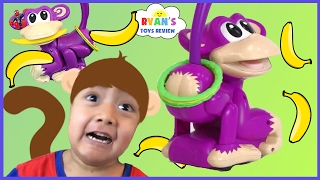 Elefun & Friends Chasin' Cheeky Ring Toss Monkey Family Fun Games for Kids Egg Surprise Toys