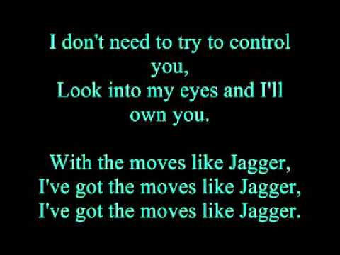 Maroon 5 (Feat. Christina Aguilera) - Moves Like Jagger (Uncensored and Lyrics)