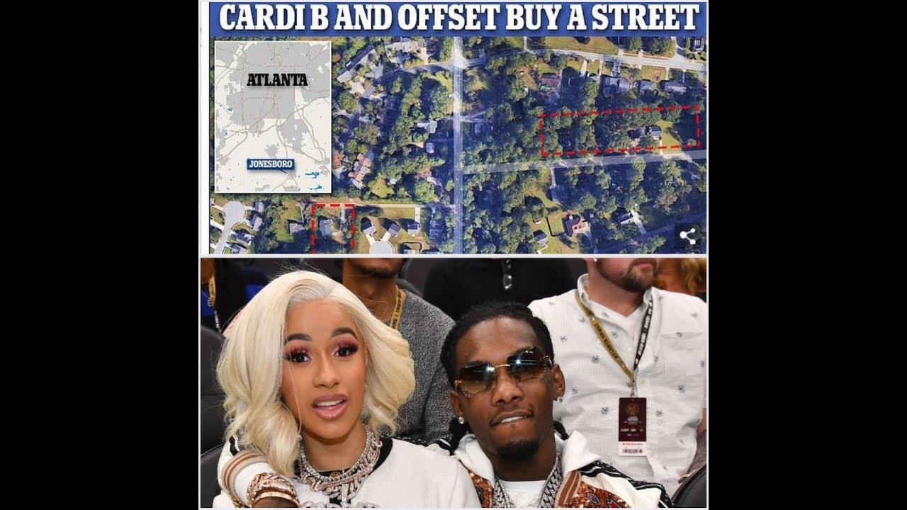 Cardi B and her husband Offset drop $200k to buy up HALF A STREET in Atlanta